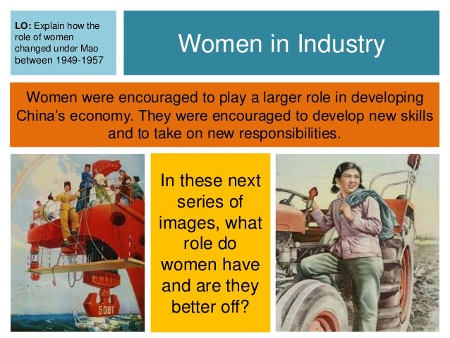 The evolution of the role of women in china