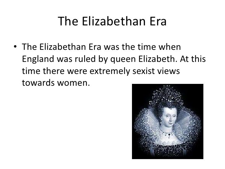 gender roles in the elizabethan era