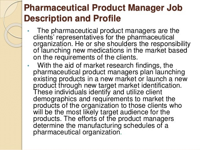 4. Pharmaceutical Product Manager Duties ...