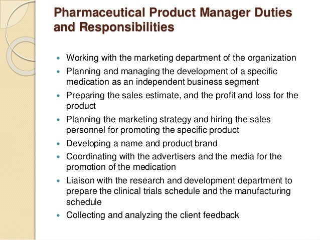 ... Client Feedback; 5. Pharmaceutical Product Manager ...
