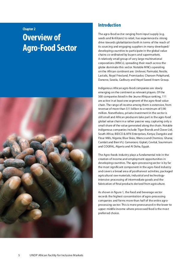 an overview of the agricultural sector in a country