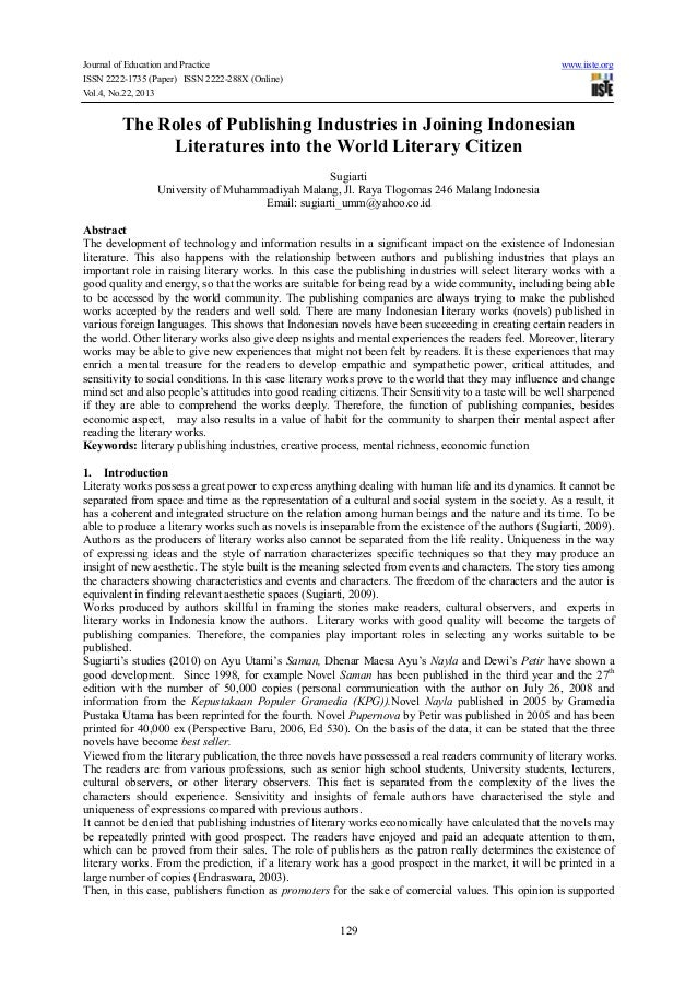 Journal of Education and Practice ISSN 2222-1735 (Paper) ISSN 2222-288X (Online) Vol.4, No.22, 2013  www.iiste.org  The Ro...