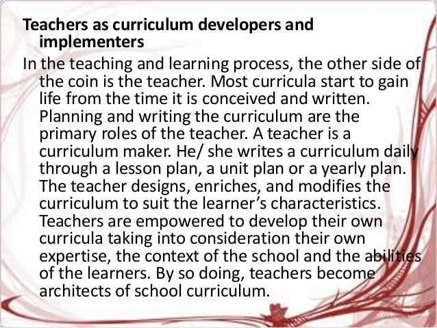 the learner centered curriculum design and implementation pdf