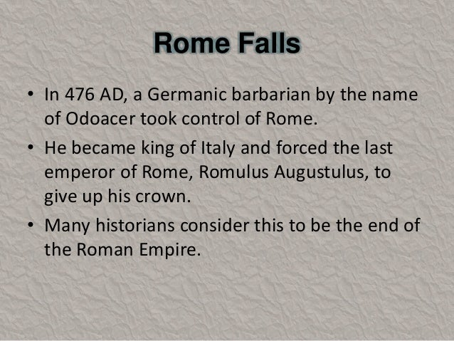 the changes that occurred from the fall of the roman empire And so it begins  list and explain the political changes that occurred during rome's  list of events and issues that led to the fall of the roman empire.
