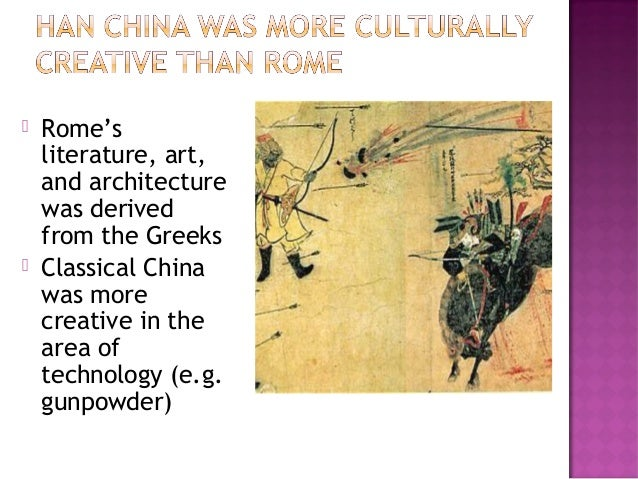 han china vs rome essay Comparison between roman and han empires  essays in macro-economic history,  china and rome.