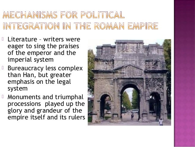 politics in han china imperial rome In imperial rome and han china, the leaders used political theologies to explain  and justify their rise to power in han china, the emperor was.
