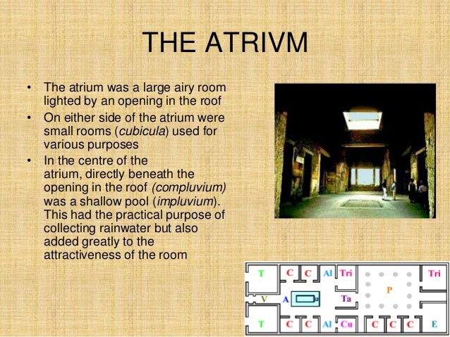 rooms in a roman house