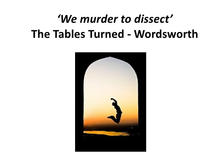 the table turned by william wordsworth