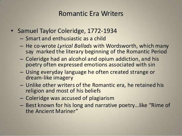Essay writers of romanticism