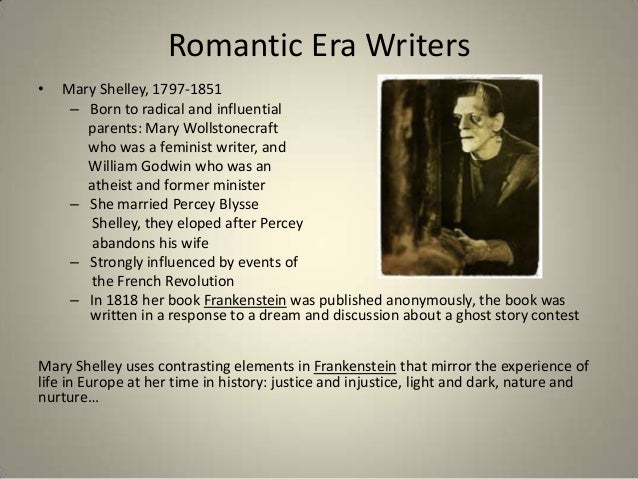 Of Historical The Period Events Romantic