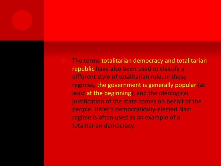 The Roots Of Totalitarian And Single Party States Ht