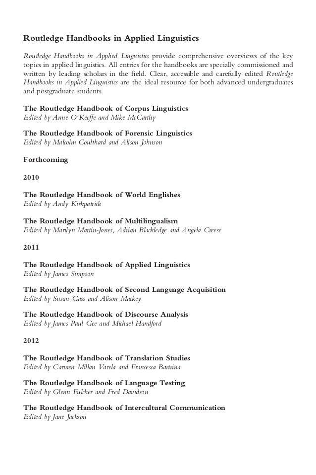 Handbook Of Stylistics Pdf