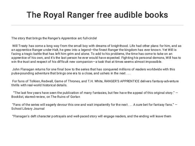 The Royal Ranger free audible books