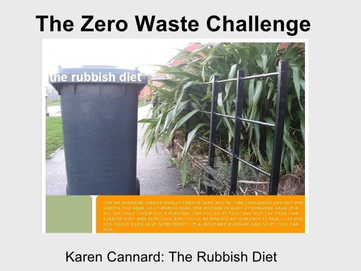 Karen Cannard: The Rubbish Diet The Zero Waste Challenge
