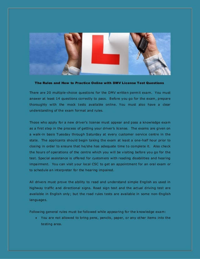 The rules and how to practice online with dmv license test