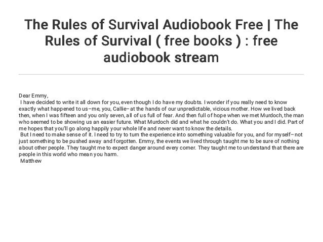 rules of survival book