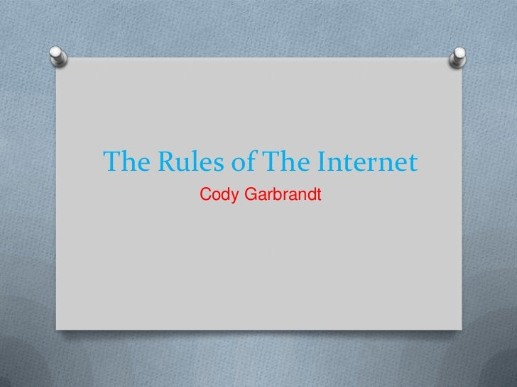 The Rules of The Internet       Cody Garbrandt