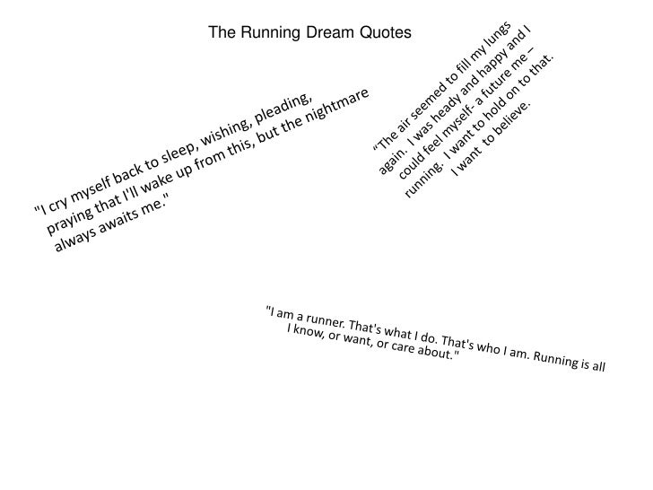 the running dream quotes