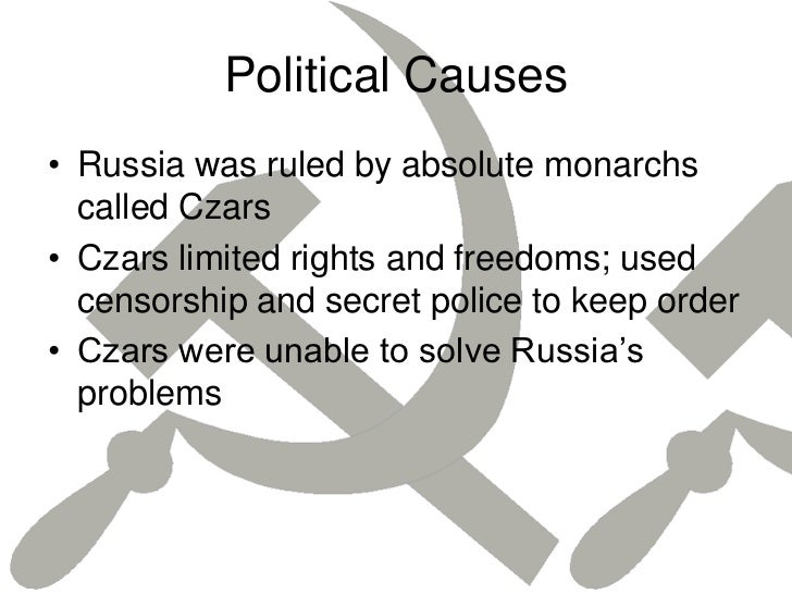 the causes that sparked the russian revolution The social causes of the russian revolution mainly the vast demand for factory production of war supplies and workers caused the russian civil war.