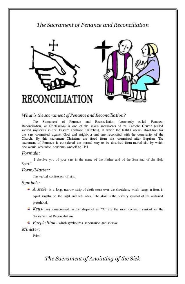 The Seven Sacraments Of The Holy Catholic Church