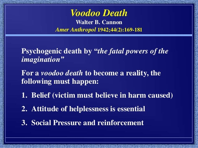 Myths of Voodoo, Spirits and Black Magic