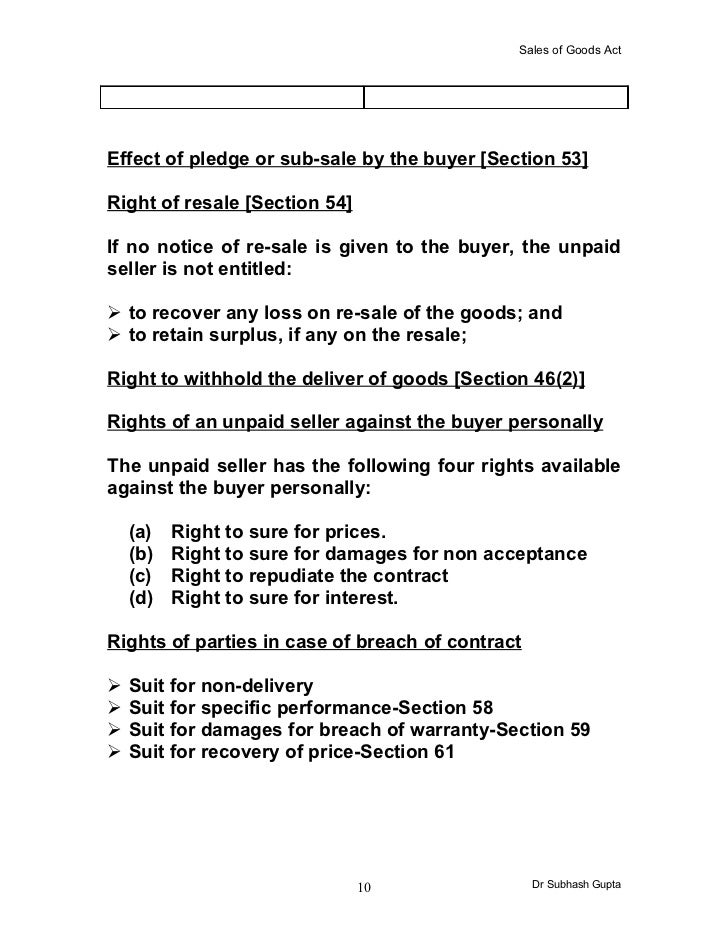 sale of goods act 1979 section 14