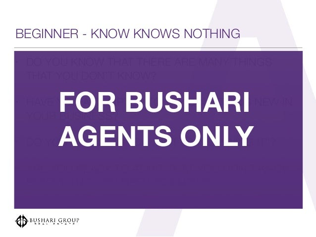 bushari real estate agent training