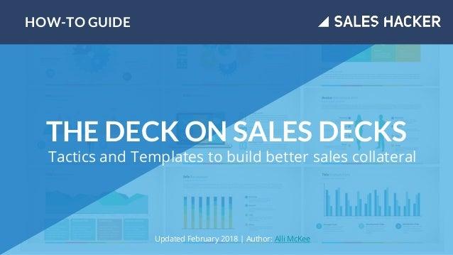 The Sales Hacker Deck On Sales Decks Slide 1