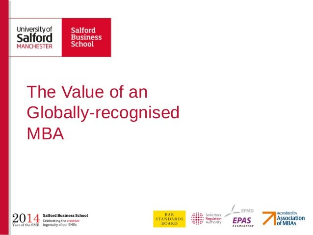 The Value of an Globally-recognised MBA