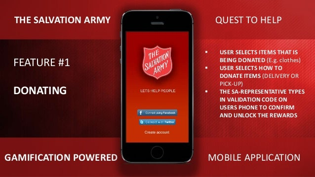The Salvation Army Gamification Mobile App Trym Stene