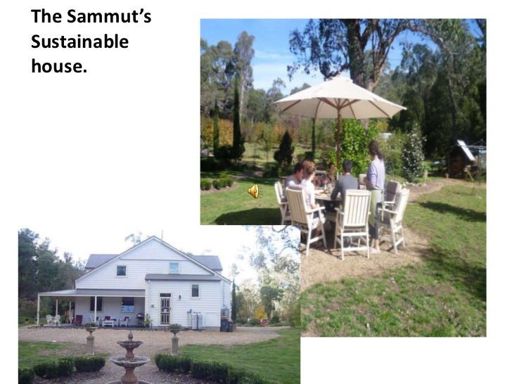 The Sammut's Sustainable house.<br />