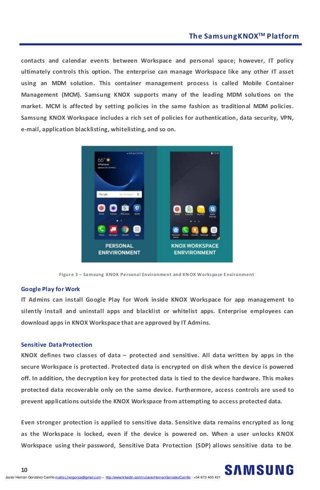The Samsung Knox Platform 0