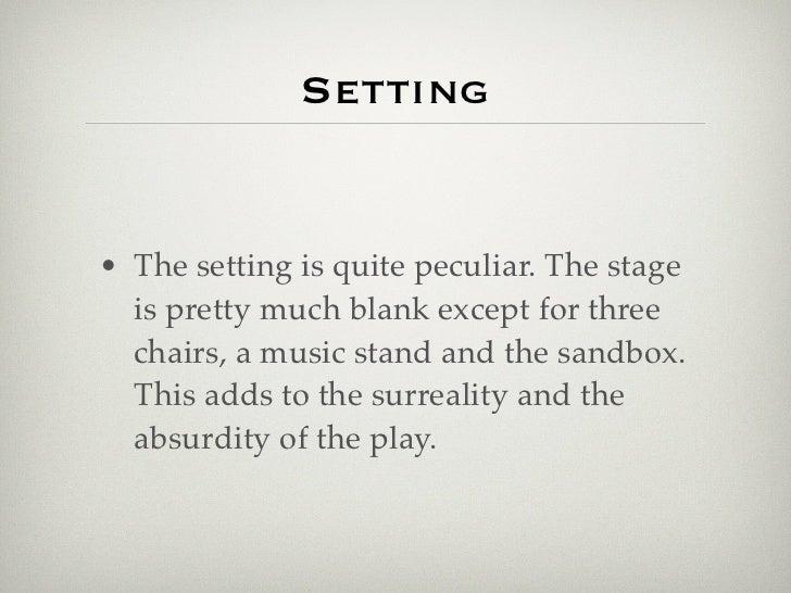 the sandbox edward albee setting