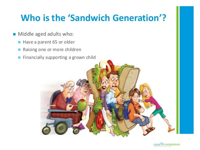 sandwich generation Setting realistic goals, taking time for self, and asking for help are 3 tips that elizz  offers family caregivers who are living in the sandwich.