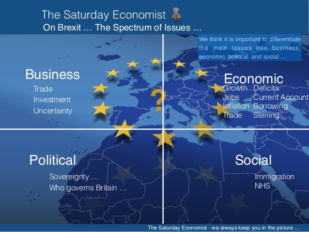 The Saturday Economist Brexit Briefing, all the information needed to make an informed decision Slide 3
