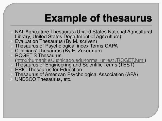 Thesaurus 2101
