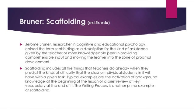 theory of scaffolding That help advance the theory of scaffolding for instructional support, primarily with a focus on learning how to do scientific inquiry in the middle to high school.