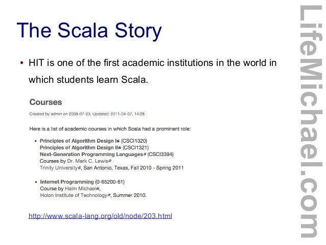 The Scala Programming Language - World first language list