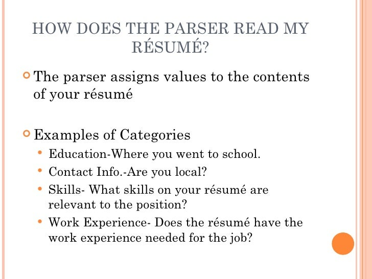what is a scannable resumes