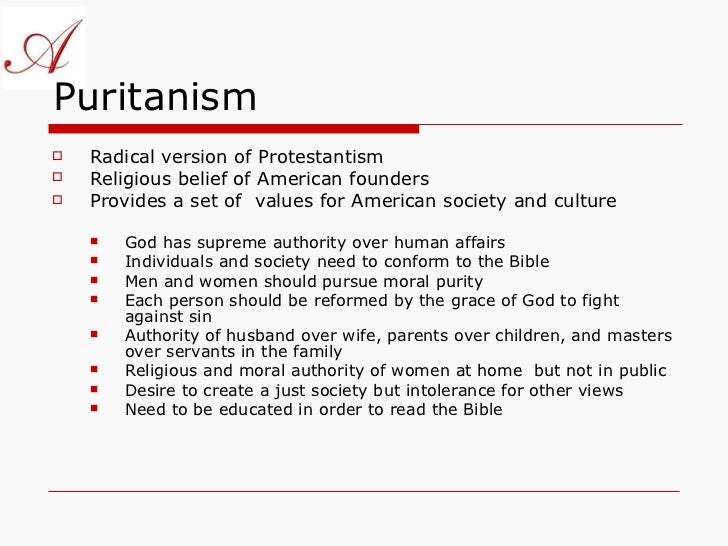 views of transcendentalism versus puritanism essay Both puritanism and transcendentalism have evolved from religious doctrine  and pervaded the american culture, politics, and identity, becoming more secular .