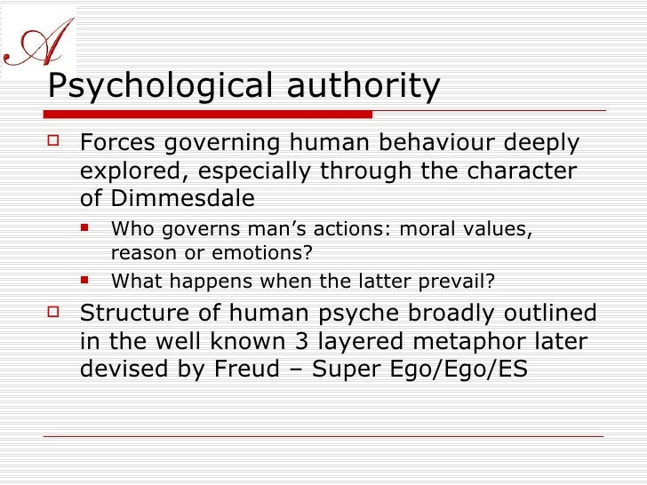 the scarlet letter id ego superego The scarlet letter from a freudian psychoanalytical point of view when looking   the id, dimmesdale represents the superego and hester represents the ego.