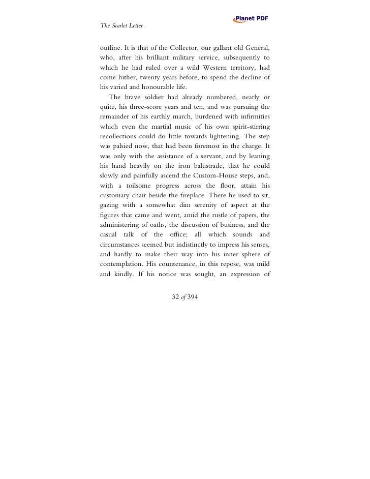 scarlet letter outline