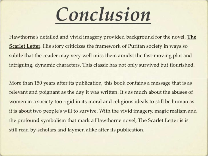 A summary and synopsis of the scarlet letter by nathaniel hawthorne