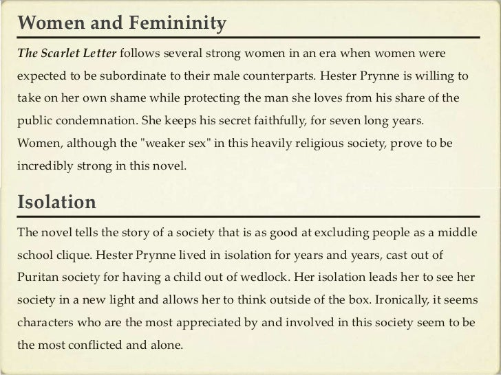 characterization of hester prynne