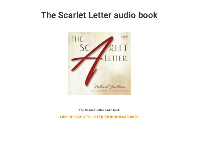 the scarlet letter audio book the scarlet letter audio book link in page 4 to listen