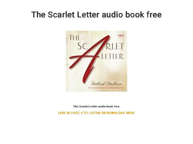 No Fear Scarlet Letter Audio