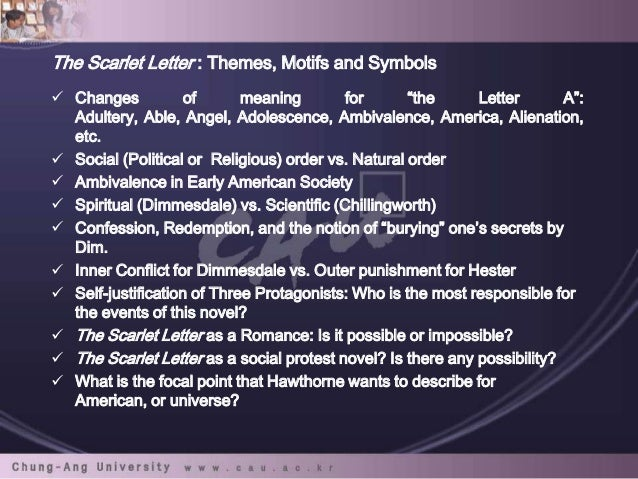 Inherent Contradictions The Scarlet Letter