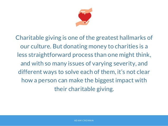 The Science Behind Effective Charitable Giving Slide 2