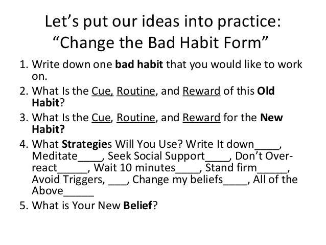 how to change bad habits into good ones