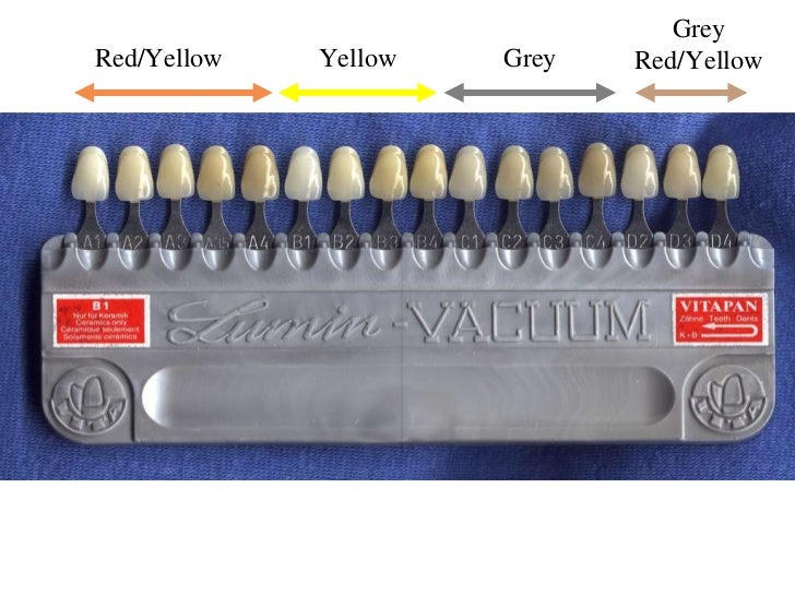 Teeth Color Chart Ibovnathandedecker